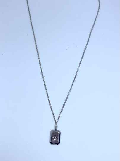 3D tag ketting ZILVER