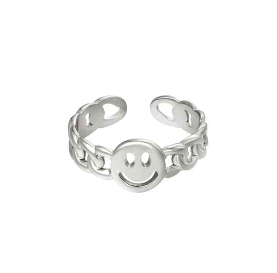 twisted smile ring ZILVER