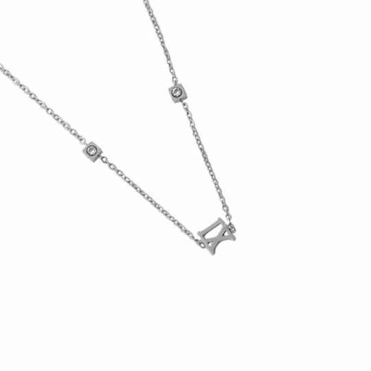 Trendy Stainless Steel Ketting Zilver
