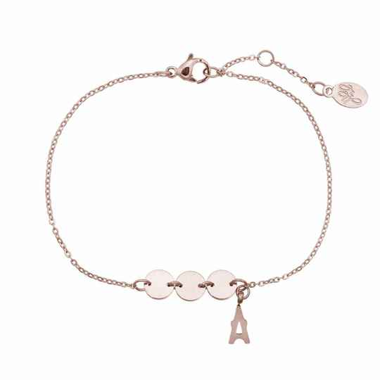 Stainless steel armband triple paris rose