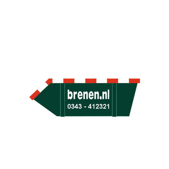 3 m3 Bouw en Sloopafval container