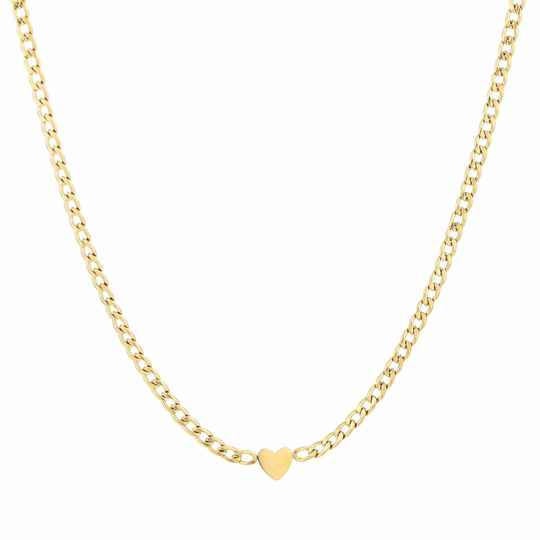 Schakelketting heart goud of zilver
