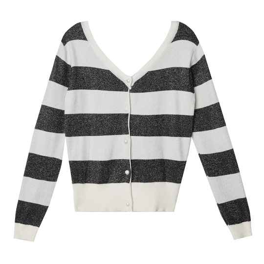Striped trui black