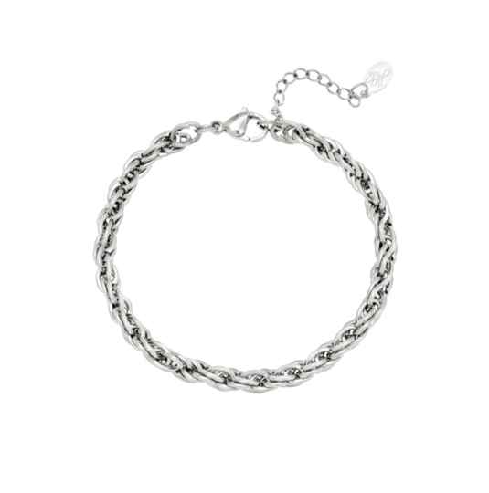 Twisted chain zilver of goud