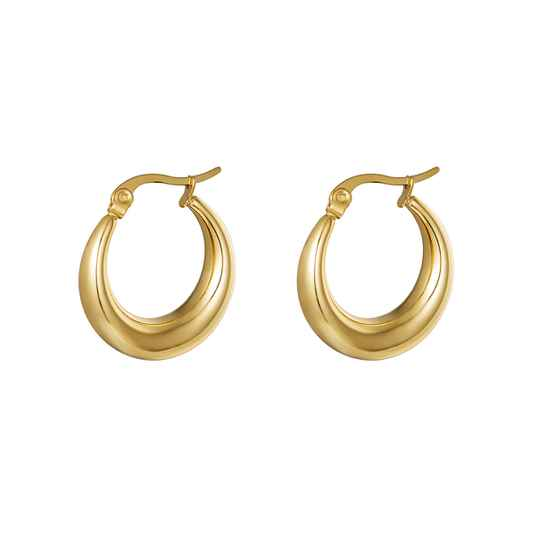 Earrings Arched goud of zilver