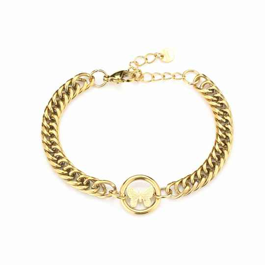 Butterfly armband goud of zilver