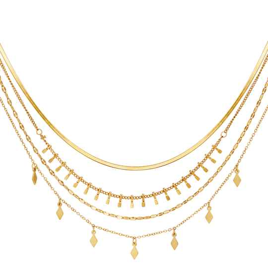 Multi Layered Necklace goud of zilver