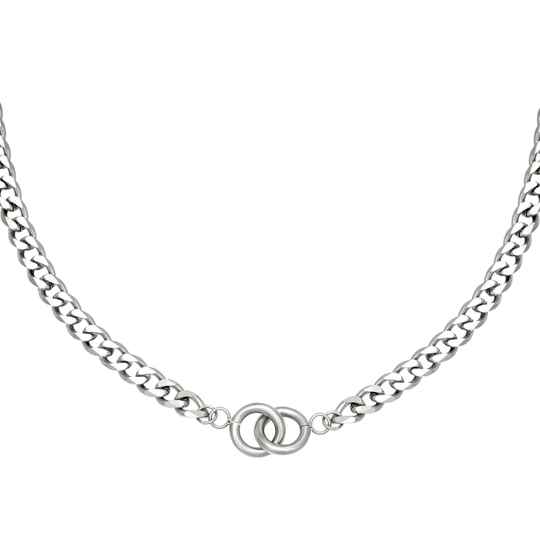 Intertwined ketting zilver of goud