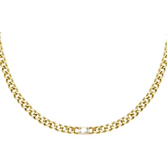 Diamond in chain goud