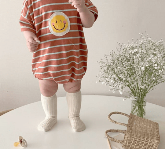 Playsuit smiley - roest