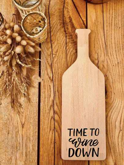 Fles-tapasplank : time to wine