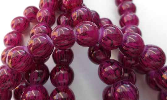 Glas rond paars roze 8 mm kr90853