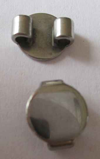 Bail RVS connector 2 draads 10 mm kl90306