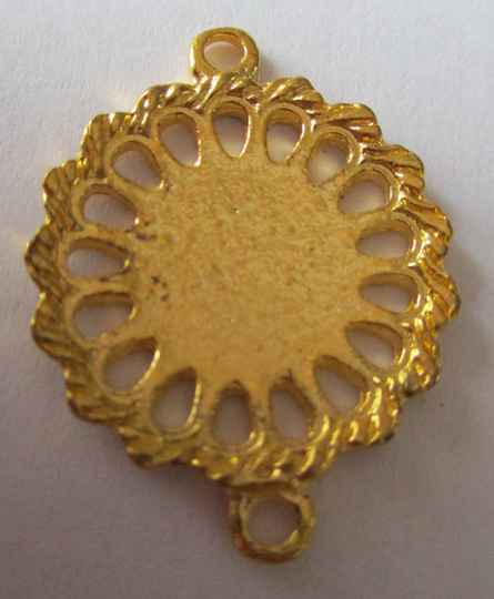 Bail of tussenzetsel rond goud 25 mm kl90347