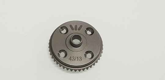 WRC SBX.1 FRONT/REAR DIFFERENTIAL LARGE BEVEL GEAR 43T 100813-L