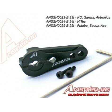 23t Answer-RC Clamping Servo Horn Black
