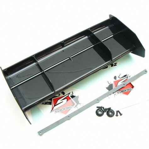 SWORKz 1/8 Off Road Formula 2.0 Race Wing - Black