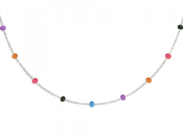 Beads Ketting zilver