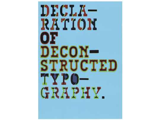 Typewood Poster 1 - The Declaration of Deconstructed Typography