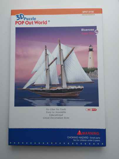Bluenose bouwplaat 3d puzzle