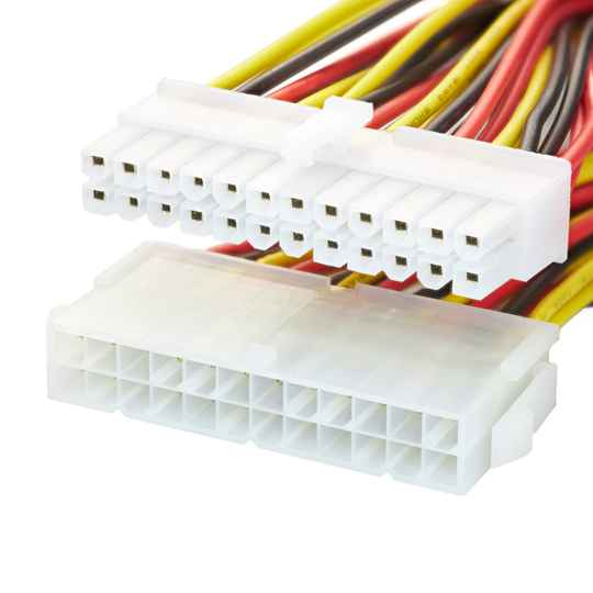Jacobytes 24 Pin ATX Male To Female PSU To Mainboard  Extension Cable 30cm