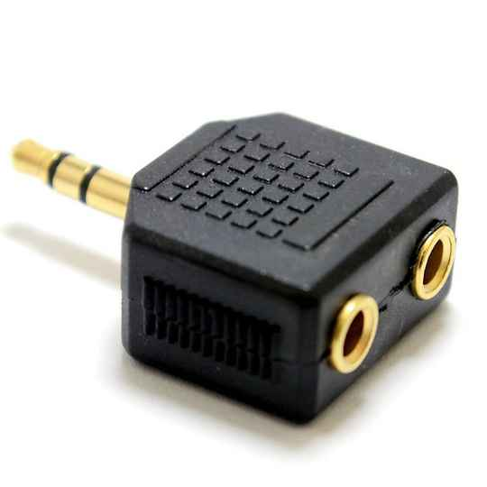 Stereo Audio Adapter 3.5 mm Male - 2x 3.5 mm Gold Connections