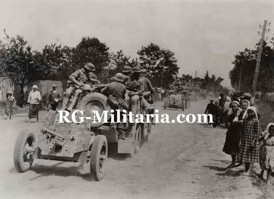 Press photo - German colonne with PAK canons, Eastern Front(1941)