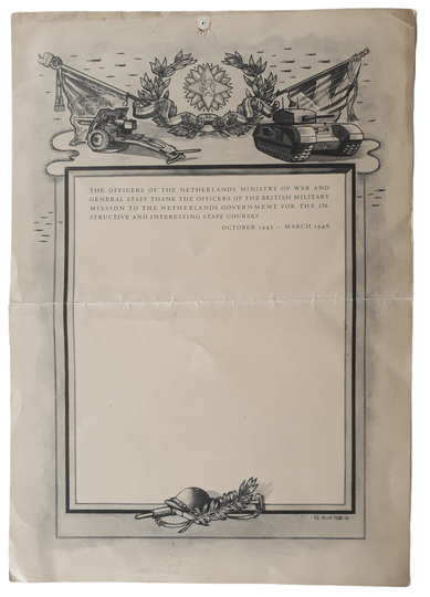 Certificate for British officers