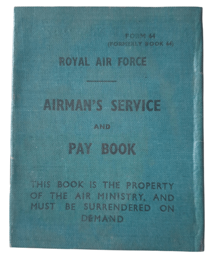 Unused RAF Airman's service and pay book