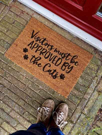 Visitors Must Be Approved By The Cats   Deurmat