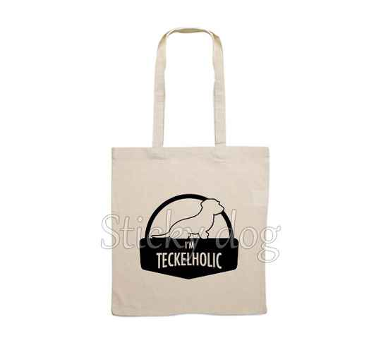 Canvas bag  Wire-haired Dachshund - Teckel holic dog silhouette