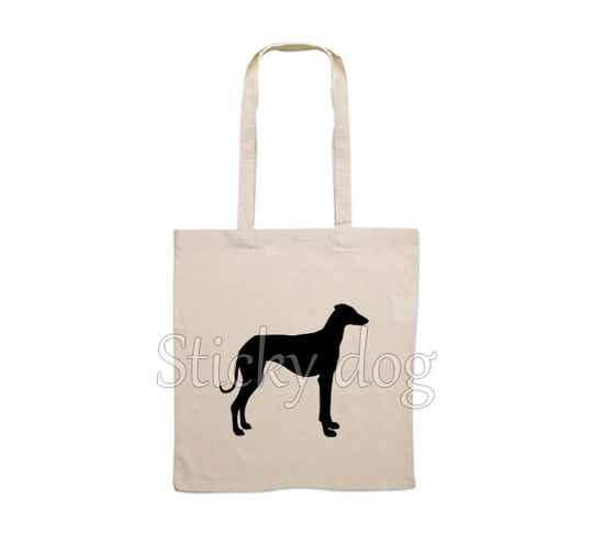 Canvas bag Sloughi dog silhouette