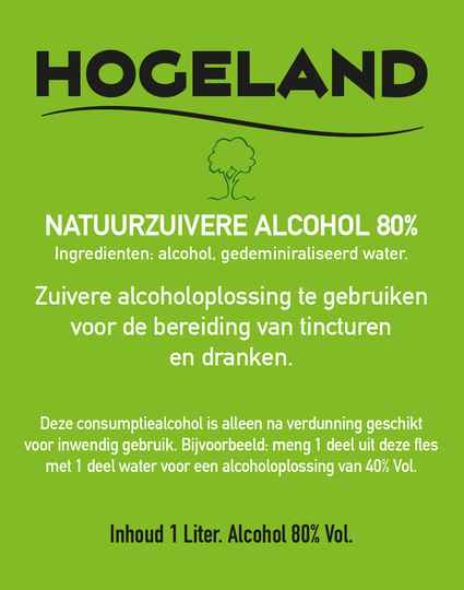 80% Alcoholoplossing voor Tincturen 1000ml