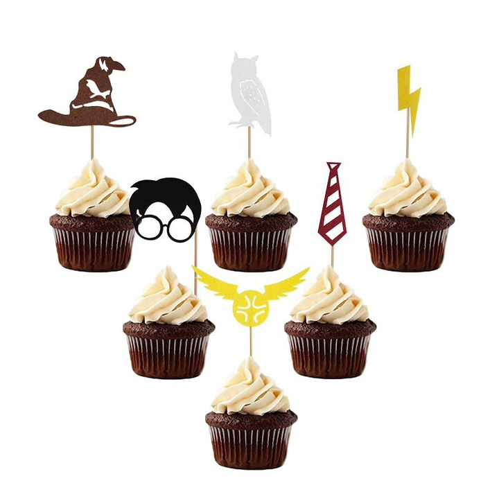 Cupcake prikkers - Harry Potter