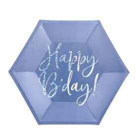 Bordjes happy Birthday - Blauw