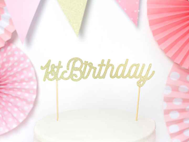 Taarttopper 1e jaar | 1St Birthday topper