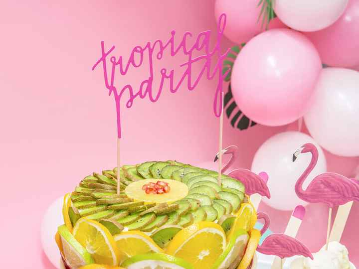 Taart topper - Tropical Party
