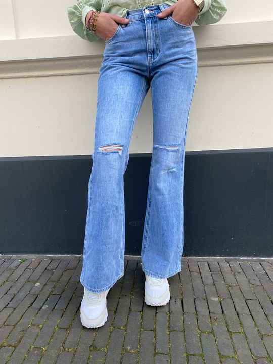 SEXY WOMEN DENIM FLARED JEANS 064