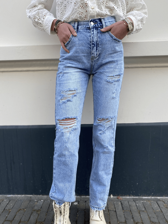 QUEEN HEART STRAIGHT FIT JEANS 3258