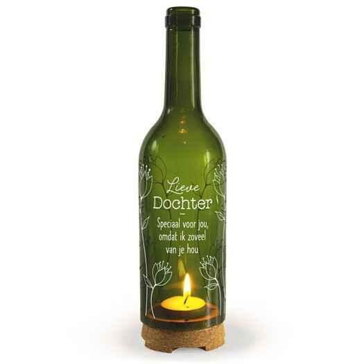 Wine Candle - Lieve Dochter