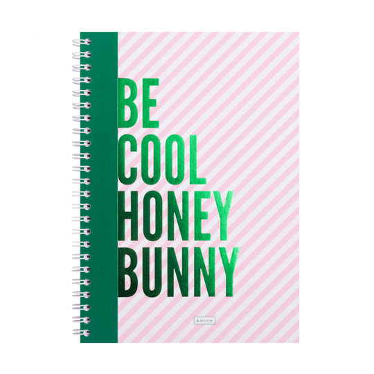 Notitieboek: Be Cool Honey Bunny | &anne