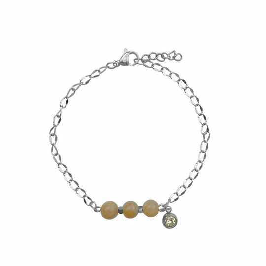 Armband (goed of zilver) Agaat & Diamantje | Saint Clairmont