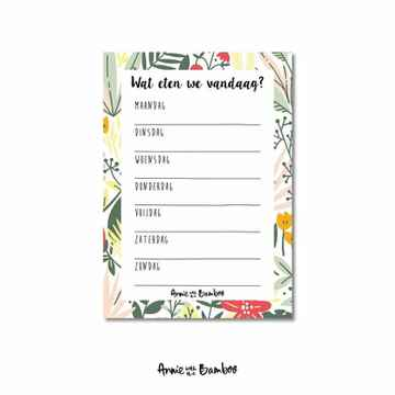 Weekmenuplanner A6 | Annie with the Bamboo