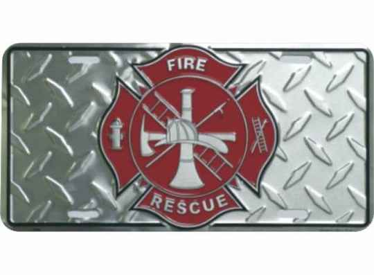 Metal License Plate - Fire Department