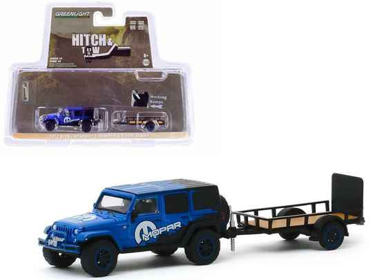 Greenlight - 2012 Jeep Wrangler Unlimited MOPAR Off-Road Edition and Utility Traile