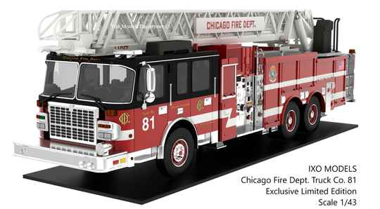 Exclusive Scale Model: Chicago Fire Truck Co. 81