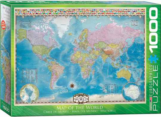 Map of the World -  Puzzle 1,000 pieces GS14044