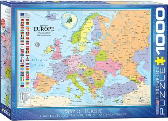 Map of Europe -  Puzzle 1,000 pieces Gs13660