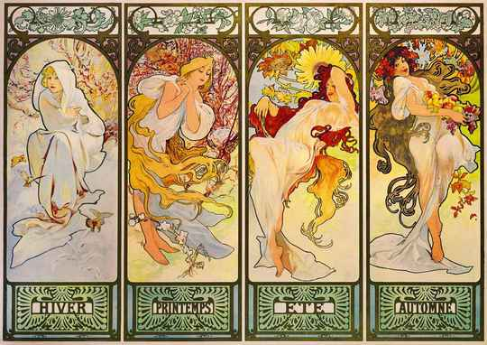 Mucha - Four Seasons, 1900 -  Puzzle 1,000 pieces Gs14050