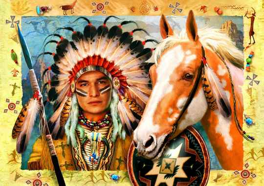 Indian Chief -  Puzzle 1,500 pieces Gs13918